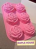 おしゃれなバラ型のシリコンケース 焼き菓子 クッキング ケーキ作り
