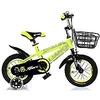 自転車 子供用自転車2-7歳12/14/16/18インチイエロー+トップフラッシュホイール付きアイアンボックスギフト (サイズ さいず : 12 inch)