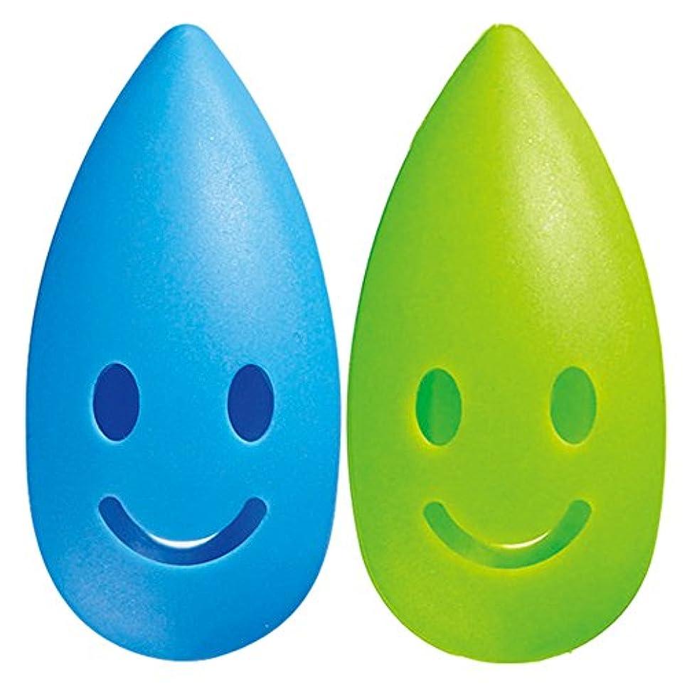 散らす均等に粒子マーナ ハブラシキャップ 「カラースパイス」 ブルー×グリーン W433B