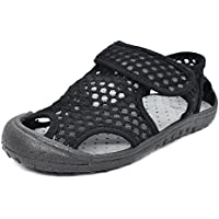 KVbaby Boy's Girl's Closed Toe Sandal Kids Summer Soft Soled Leather Sandal Outdoor Flexible Sandals