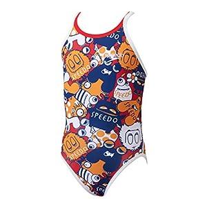 Speedo(スピード) 競泳水着 女の子 ジュニア トレインカットスーツ トレーニング ENDURANCE J 140 RE(レッド) SD38T62