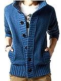(アルファーフープ)α-HOOP ボーイズ メンズ ファッション キッズ 子供 服 厚手 防寒着 カーディガン トレーナー アウター 無地 シンプル コート ウェア 小さめ 大きい サイズ KDG(15.ブルー(XL))