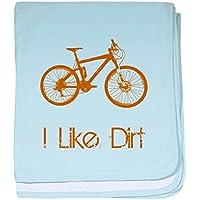 CafePress – I Like Dirt Bike – スーパーソフトベビー毛布、新生児おくるみ ブルー 056838488025CD2