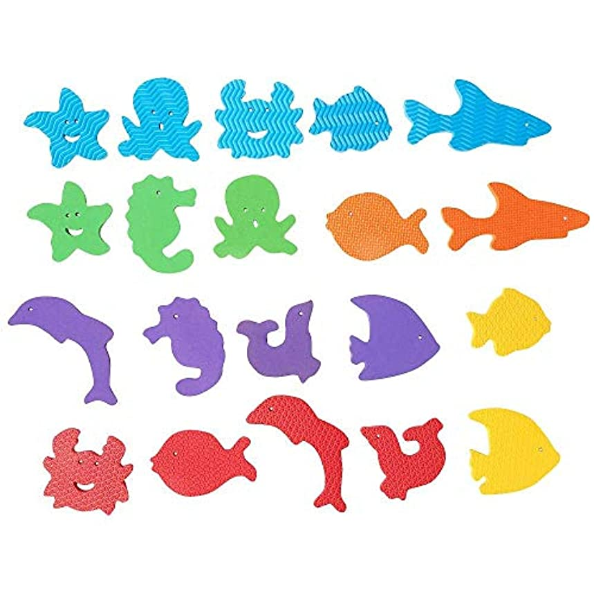 それに応じて郵便番号薄暗いBabies R Us Foam Sea Animal Bath Set - 20 Pieces by Babies R Us [並行輸入品]