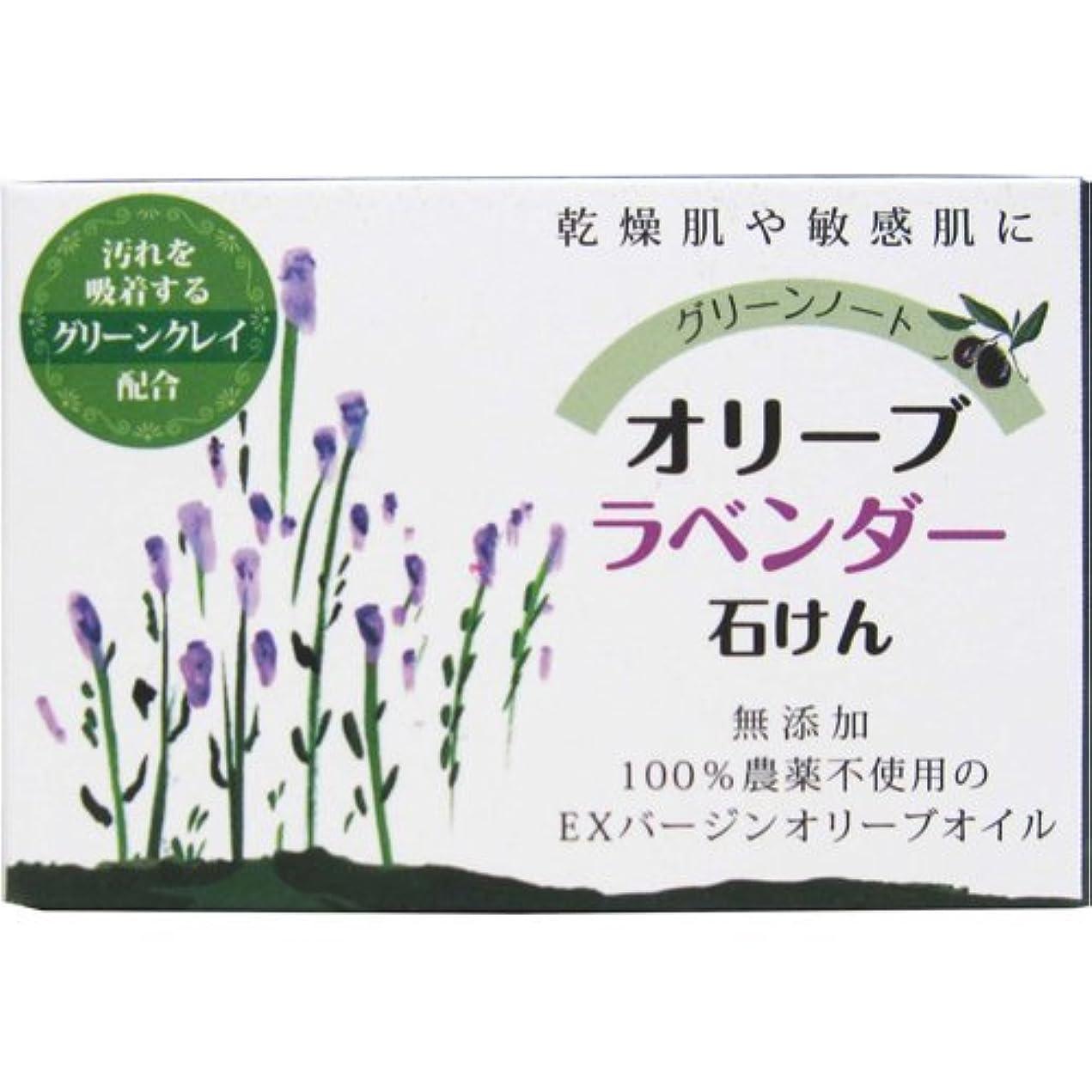 森ゼロマークされた乾燥肌 敏感肌 お得な 2個セット グリーンノート オリーブ ラベンダー 石けん 無添加 農薬不使用 EX バージン オリーブオイル