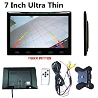 "FidgetGear 超薄型7""16 mm HD TFT LCDカラーオーディオビデオカーリアビューモニターw/スピーカー"