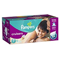 Pampers Cruisers Diapers, Economy Plus Pack, Size 7, 92 Count by Pampers