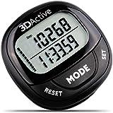 3dactive 3d歩数計pda-100  Best歩数計for Walking with 30-daysメモリ。正確なステップカウンター、カロリーカウンター、距離マイル/ KM & Dailyターゲットモニタ。Fitness tracker forメンズ&レディース ブラック