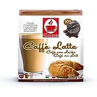 ドルチェグスト専用互換カプセル カフェラテ Caffe Latte イタリアンカフェラテ イタリア製造 カップに氷を入れて濃いめで抽出したらアイスカフェラテの出来上がりですよ。同時に複数個のご注文でも送料は同じ1送料分です。