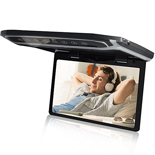 LOSKAフリップダウンモニター 12.1インチデジタルフリップダウンモニター LEDバックライト液晶HDMI MicroSD対応