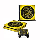 Geek Gamer Think - BVB Borussia Dortmund Sports Club Protective Vinyl Skin Decal Cover for Sony Playstation 4 - Bundesliga Fan Made PS4 Console & Remote Dualshock 4 Controller Sticker Skins By Patriots N Sun by Geek Gamer Think by Patriots N Sun [並行輸入品]