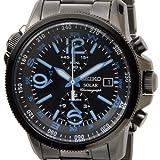 [セイコー]SEIKO SSC079P1 ソーラー クロノグラフ ブラック×ブルー メンズ腕時計 [逆輸入品]