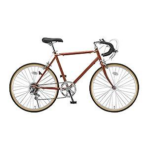 Raychell(レイチェル) クラシック ロードバイク 24インチ シマノ6段変速 CR-246R サムシフター 2wayブレーキ オレンジ [メーカー保証1年]