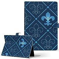 igcase Xperia Tablet Z4 SOT31 AU SONY ソニー 用 タブレット 手帳型 タブレットケース タブレットカバー カバー レザー ケース 手帳タイプ フリップ ダイアリー 二つ折り 直接貼り付けタイプ 004210 チェック・ボーダー 模様 青
