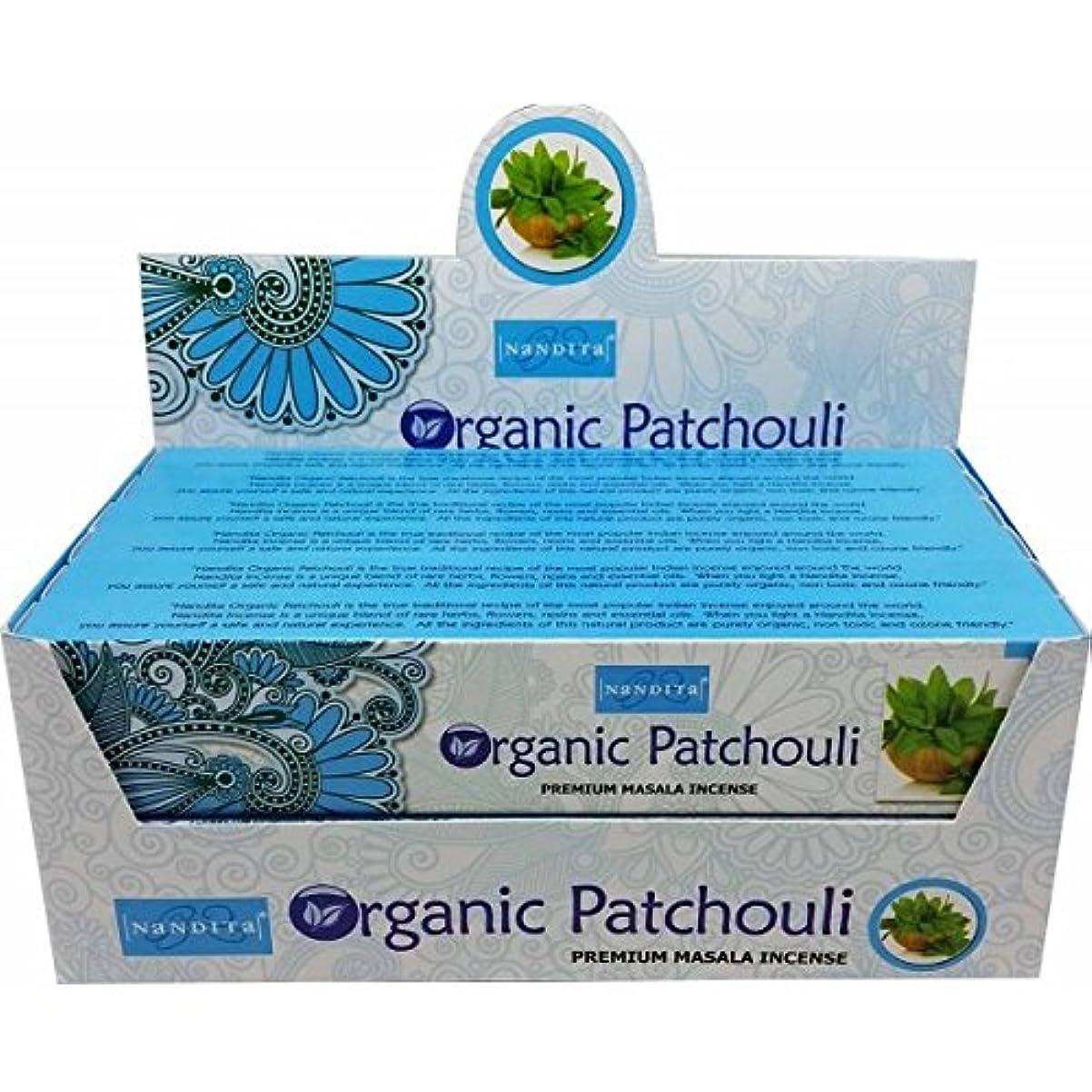 コカイン冗長消防士Nandita元/有機Patchouli Incense Sticks Agarbathi – 15 gm X 12パケット