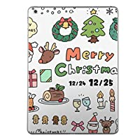 iPad Air スキンシール apple アップル アイパッド A1474 A1475 A1476 タブレット tablet シール ステッカー ケース 保護シール 背面 人気 単品 おしゃれ クリスマス サンタ トナカイ 013927