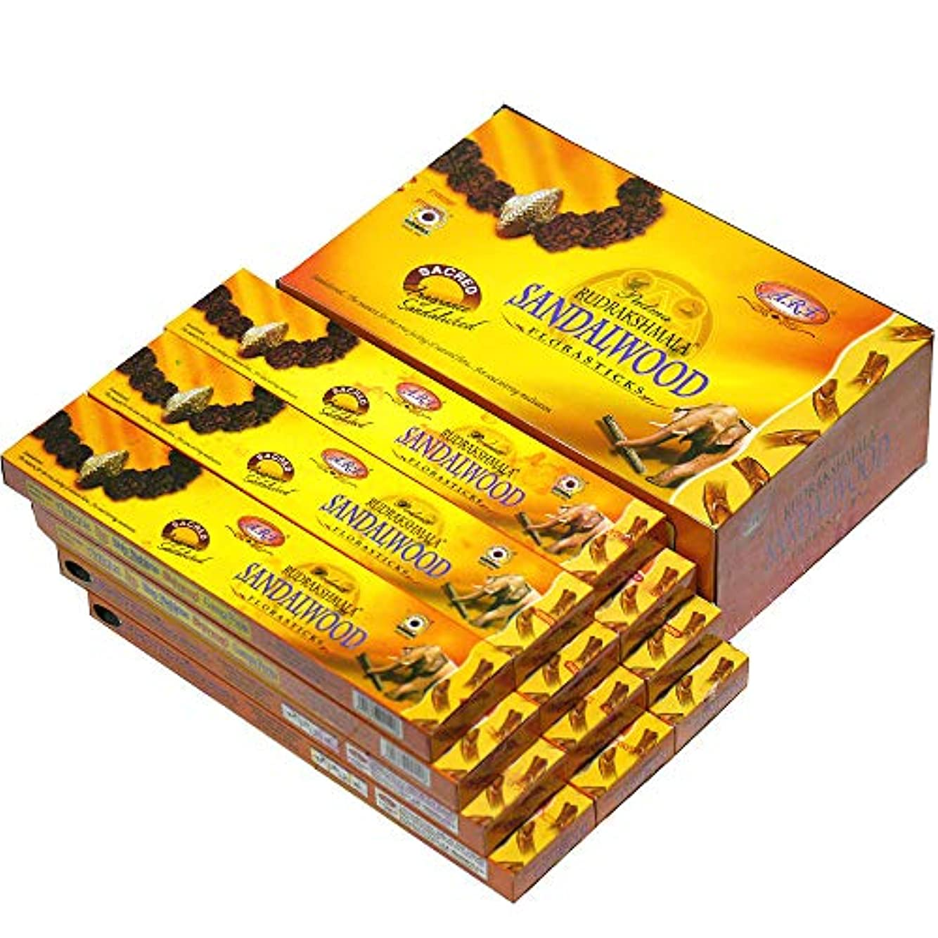ランドマーク運動雑多なPADMA(パドマー) RUDRAKSH ルドラクシャ香 スティック 12箱セット