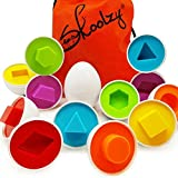 Skoolzy Shapes Toddler Games Egg Toy Learning Colors and Geometric Shapes Matching Preschool Toys Puzzles for 2, 3, 4 year ol