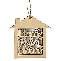 10個装飾ウッドウォールハンギングホームSweet Sign Plaque家シェイプカットアウトクラフト新築祝いギフト