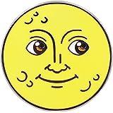 Real Sic Moon Emoji Enamel Pin - Full Moon & New Moon Lapel Pin - Cute, Kawaii & Occult Pins for Jackets, Backpacks, Hats, Ba