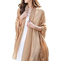 Silky Wrap Scarf Chiffon Oversized Sunscreen Beach Scarves for Women Stole Shawls