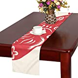 GGSXD テーブルランナー 面白い 豚 クロス 食卓カバー 麻綿製 欧米 おしゃれ 16 Inch X 72 Inch (40cm X 182cm) キッチン ダイニング ホーム デコレーション モダン リビング 洗える