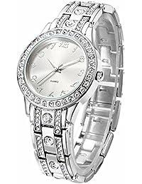 NUOVO 腕時計 ステンレス ベルト クリスタル レディース クオーツ ウオッチ 女性用 時計
