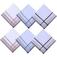 LACS Men's Cotton Handkerchiefs 6 Pack