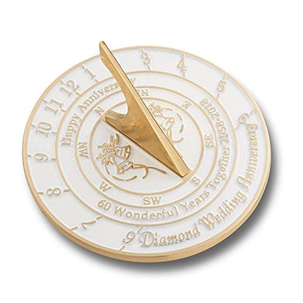 メッセージ素子春antiquecollection 60thダイヤモンド結婚記念Sundialギフト