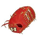 HI-GOLD(ハイゴールド) 硬式ファーストミット PAG DELUXEシリーズ 一塁手用 LH 右投げ PAG-301F ファイヤーオレンジ×タン