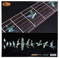 Jockomo バード(アバロンMIX) ギターに貼る インレイステッカー