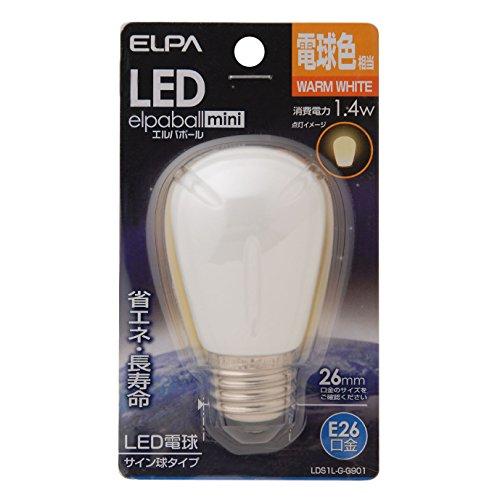 ELPA エルパ LED電球サイン球E26 電球色 屋内用 省エネタイプ LDS1L-G-G901