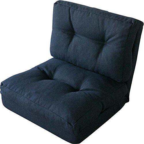 3WAY折り畳みソファーベッド/KOLME 幅約60  1人掛けシングル ネイビー CG-4Aー60-FAB