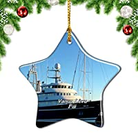 Weekinoシンガポールクリスマスデコレーションオーナメントクリスマスツリーペンダントデコレーションシティトラベルお土産コレクション磁器3インチ