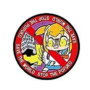 ポプテピピック STOP the ポプ子 ベルクロ刺繍ワッペン