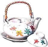 マルヨシ陶器 土瓶むしセット 三色もみじ M2201