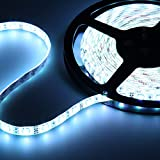 12V超高輝度 5M 600連 LEDテープ 防水 切断可能 白ベース/LEDグリーン 強力粘着両面テープ 正面発光 SMD 2835 3528 (ホワイト)