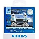 Philips 12972WVUSM H7 WhiteVision Ultra Headlight Globe Twin Pack