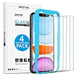 OMOTON [4 Pack] Tempered Glass Screen Protector Compatible with Apple iPhone 11 / iPhone XR, 6.1 inch