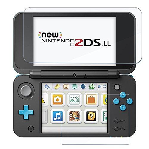 AVIDET Newニンテンドー2DS LL フィルム Nintendo 2DS LL フィルム 上画面 ガラスフィルム 2.5D 0.2mm超薄型 日本旭硝子ガラス素材(1枚入り) (贈り物:下画面フィルム3枚入り) New 2DS LL 液晶保護フィルム