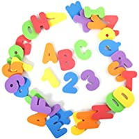 BonBon 36-Count Non-Toxic Alphabet Toddler Bath Toys Educational Number Letters