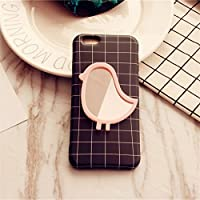 HuaQingPiJu-JP ミニ漫画の形の小さなガラスミラー工芸装飾化粧品アクセサリーのピンク