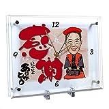 還暦祝いのプレゼントに 似顔絵時計 大サイズ N-8