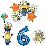 怪盗グルーの月泥棒3ミニオンズStackers 6th誕生日パーティー用品とバルーンデコレーション