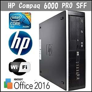 Office2013 中古パソコン HP Compaq 6000pro 爆速CPU Core2 E7500 2.93GHz 高速メモリ DDR3 4GB HDD 320GB Windows7pro 64bit DtoD リカバリ領域有