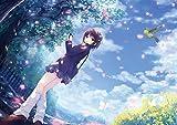 「絵師100人展 04」A3クリアポスター 珈琲貴族「春の風にのせて」