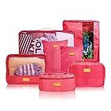 (リベルタ) トラベルポーチ アレンジケース 旅行ポーチ 出張 便利グッズ 7点セット ピンク