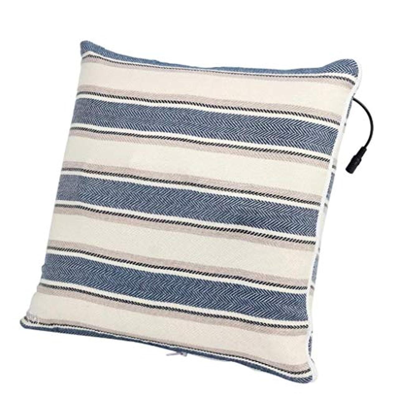 直面する気楽なモールス信号電動マッサージ枕、背中、首、肩、足の3D指圧マッサージャーで筋肉をほぐし、痛みを和らげ、持ち運びが簡単