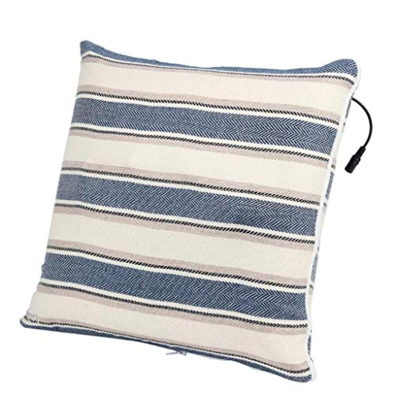 じゃない一征服者電動マッサージ枕、背中、首、肩、足の3D指圧マッサージャーで筋肉をほぐし、痛みを和らげ、持ち運びが簡単