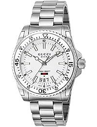 [グッチ]GUCCI 腕時計 DIVE ホワイト文字盤 300M防水 YA136302 メンズ 【並行輸入品】